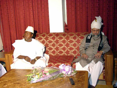 Huzur at the presidential arrival lounge