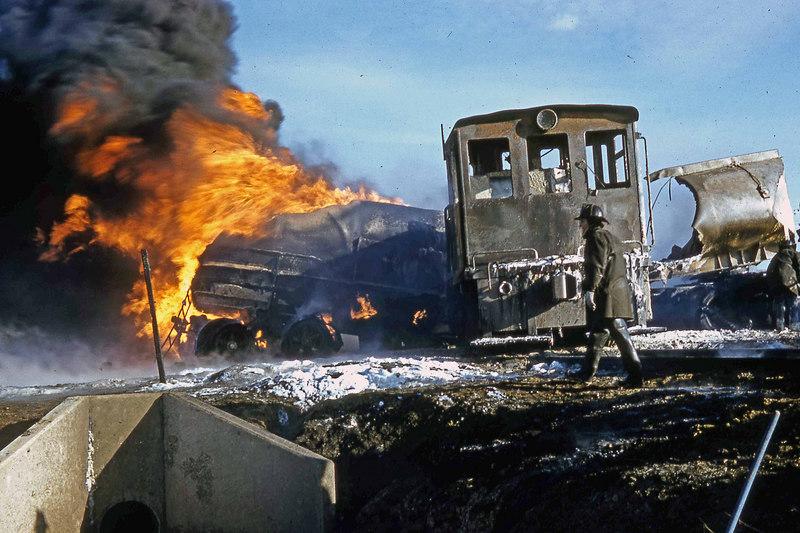 Switch engine vs gasoline tanker..near Ohare Field I believe