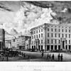Albany NY Broadway and State Streets Albany Exchange and Museum 1868