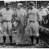 Albany NY Hawkins Stadium Babe Ruth and Mayor John Boyd Thatcher circa 1922