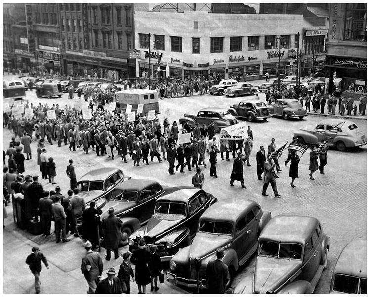 Albany NY State Street Demonstration October 1946