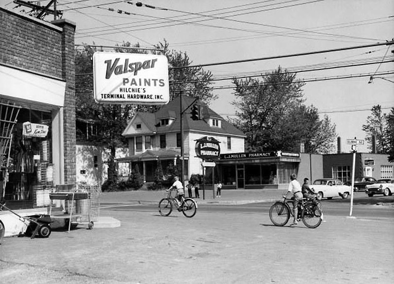 Delmar NY Delaware Delaware Ave  at Elsmere Ave circa 1963