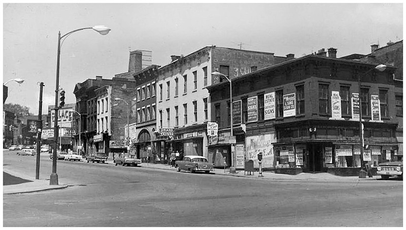 Albany NY Clinton Avenue between Broadway and North Pearl circa 1965
