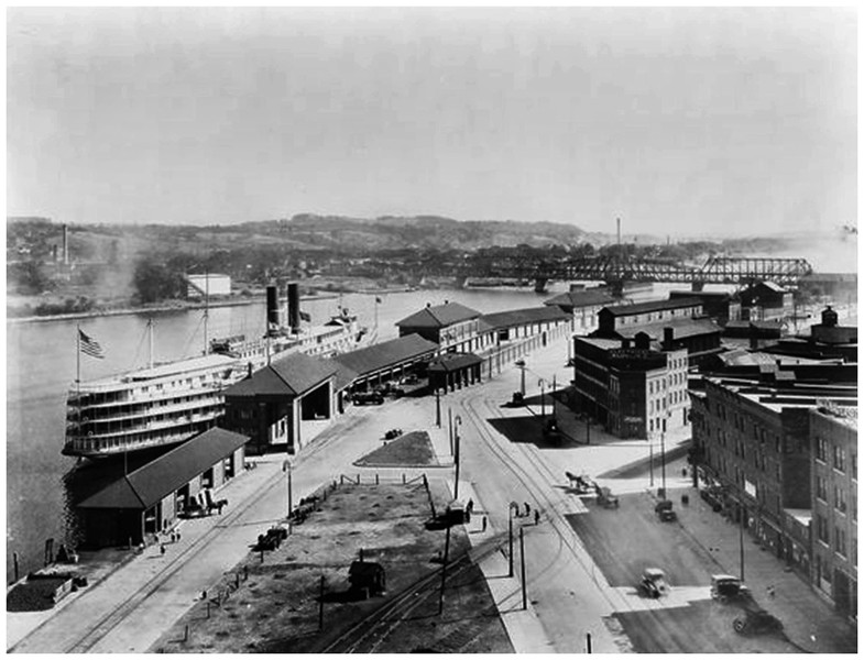Albany Steamboat Square circa 1925