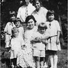 Ofilas and Alice Contois Amyot Top Middle Mary Berthe and Lucille Amyot, Twinnett Contois, Marietta Amyot, Bottom Paul and John Amyot circa 1927