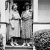 Alice Contois Amyot and unknown 143 Central Cohoes circa 1947