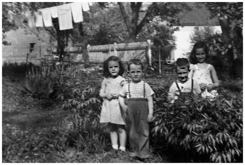 Sue Bessette, Mark Hinchcliffe, Jim Mossey and Judy Stidnick circa 1950 VanNess Waterford
