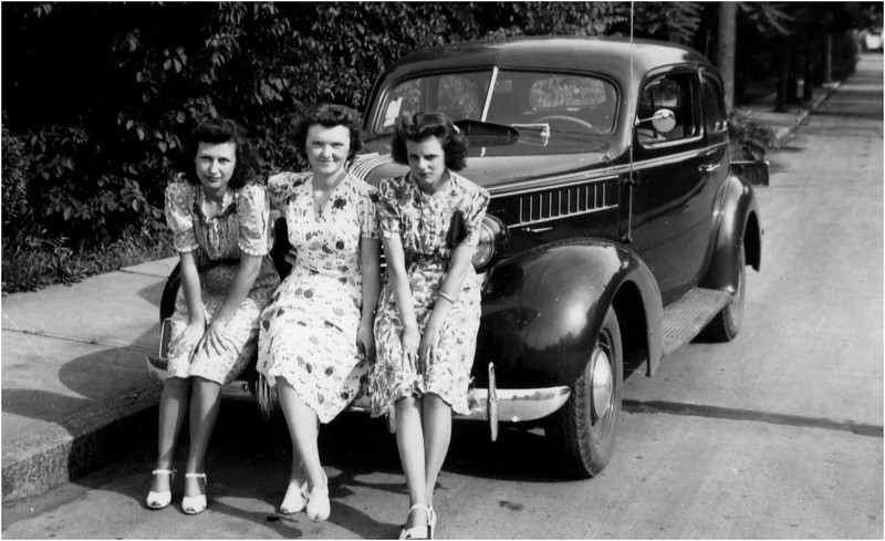 Lucile Amyot, Francoise Menard and Mary Berthe Amyot 143 Central Cohoes circa 1945