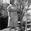 Alice Contois Amyot, Backyard 143 Central Cohoes circa 1945