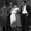 Judy Bessette Christening 1942 Charles Bessette, Leo Bessette Albertine Bouchard Bessette, Harvey Bessette