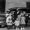 Mom with neighbor kids Grace St Waterford circa 1947 2nd left Judy Bessette, Marietta Bessette and Pete Bessette Front center Sue Bessette