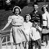 Bessette Family circa 1953 Lansings Park Cohoes  front Judy, Sue, Bob, back Pete and Marietta