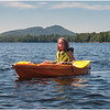 Adirondacks Forked Lake Jenna in Her Kayak 2 August 2010