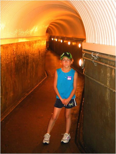 Niagara Falls August 2007 Jenna in Falls Tunnel