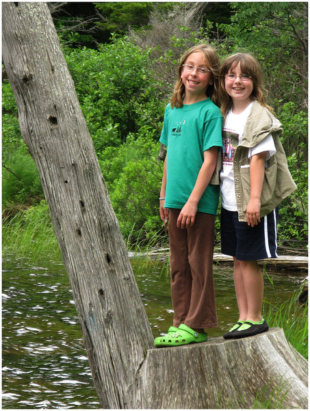 Adirondacks Forked Lake Jenna and Sammy June 2008