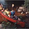 AAdirondacks Forked Lake Tom Jenna Anthony G and Steve G  in Canoe with Mcki Swimming 2 July 2001