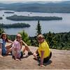 Adirondacks Castle Rock Hike July 2015 Maddy Jenna KIm Blue Mt Lake from Summit