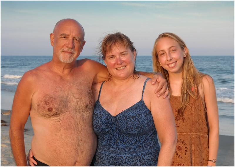 Avalon NJ Kim, Tom and Jenna Beach 1 August 2016
