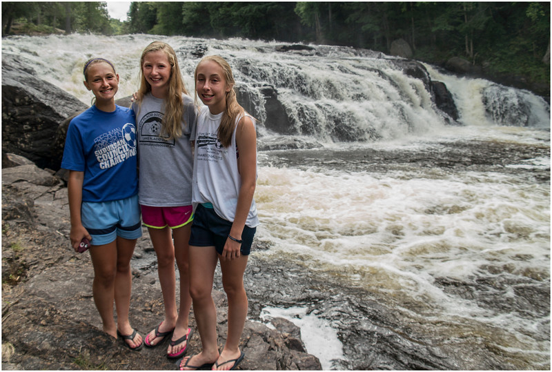 Adirondacks Buttermilk Falls Olivia Slingerland, Bella Dworkin and Jenna Bessette July 27 2013