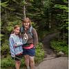 Adirondacks Cascade Mountain Trail Kim and Jenna Ready to Descend July 2009