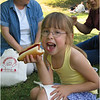 Jenna and Hot Dog with Kathy and Bob Clark June 27 2004