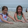 Avalon NJ July 2007 Jenna and Maddy in the Sand 2