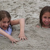 Avalon NJ July 2007 Jenna and Maddy in the Sand 1