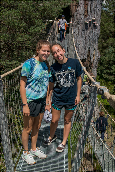Adirondacks Wild Center Wild Walk Maddy Jenna 2 July 2015