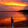 Adirondacks Raquette Lake Golden Beach Sunset with Jenna Auguist 2008
