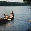 AAdirondacks Forked Lake Tom Jenna Anthony G and Steve G  in Canoe with Mcki Swimming 1 July 2001