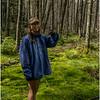 Adirondacks July 2015 Grassy Pond Trail Jenna on Sphagnum Moss