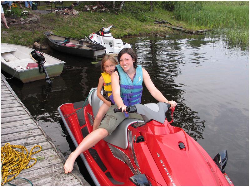 Adirondacks Chateagay Lake Snug harbor Camp Jenna Jessie Sprague on Seadoo July 2006