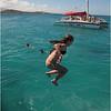 Puerto Rico Fajardo Catamaran Jenna Swimming 2 February 2012