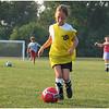 Fall Soccer September 2007 Jenna Dribbling