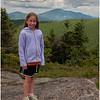 Adirondacks Cascade Mountain Summit Jenna with Giant View July 2009