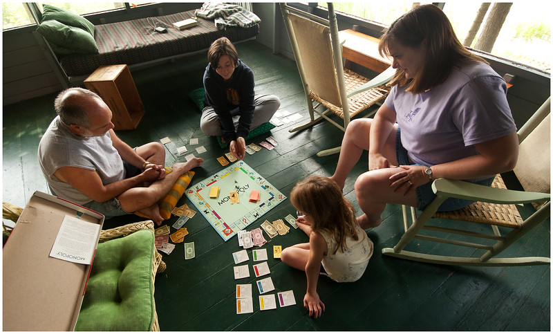 LT Chateaugay Lake NY Sprague Camp Monopoly Game with Jess July 2005
