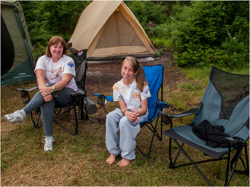Forked Lake Kim Jenna Brody Campsite 35 2 July 2011