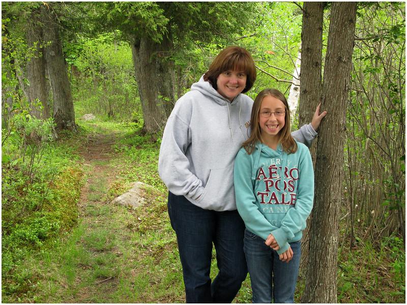 Adirondacks Kim and Jenna 1 Chateaugay Lake July 4 2010