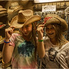Altamont NY Altamont Fair Midway At Night Jenna and Emily and Hats 2012