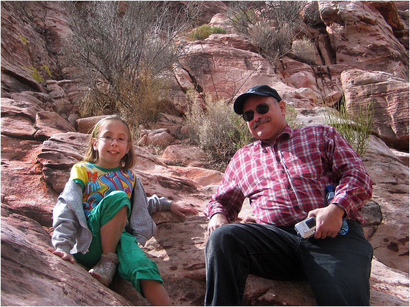 Vegas February 2007 Mojave Desert Jenna Tim Red Rock Hill