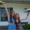 Clarksville NY Senion Ball Pix Jenna and Delaney Flaherty 2  June 2017