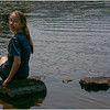 Adirondacks Blue Mountain Lake Cascade Pond Jenna Sitting Rock Looking Back July 2012