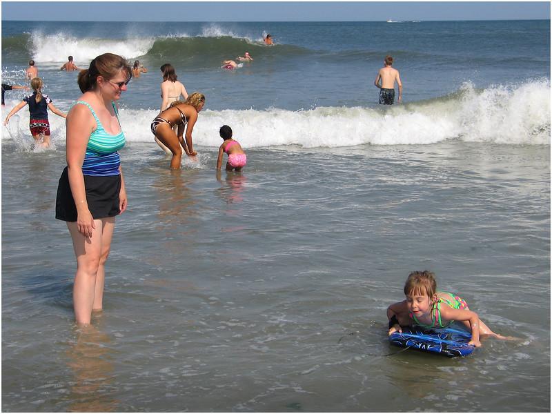 Jenna Bessette & Kim Avalon Beach July 16 2004