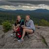 Adirondacks Coney Mountain July 2015 Summit View Jenna and Maddy