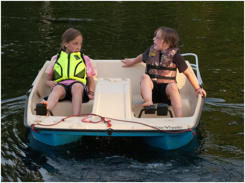 Adirondacks Blue Mountain Lake Prospect Point Paddleboat Jenna Sam July 2009