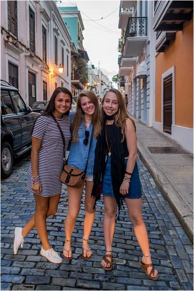 Puerto Rico February 2016 Old San Juan Calle le Fortaleza Alana, Maddy and Jenna