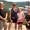 Adirondacks Blue Mountain Lake Castle Rock Me, Kim, Jenna, Sam July 2009