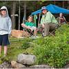 Adirondacks Forked Lake Kim, Jenna, Sammy, Stacy and Brody at Site 10 June 2008