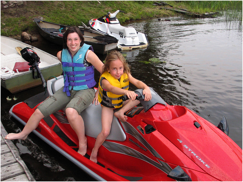 Jesse Sprague and Jenna at Sprague Camp Chateaugay Lake July 2006