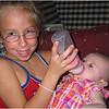 Jenna Feeding Amelia Anderson (Half Sister) 2 July 2006